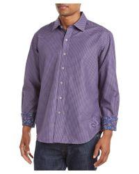 Robert Graham | Purple Patterson Classic Fit Woven Shirt for Men | Lyst