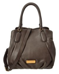 Marc By Marc Jacobs | Gray New Q Fran Leather Satchel | Lyst