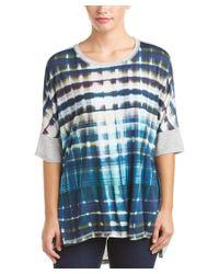 Karen Millen | Blue Fluid Plaid T-shirt | Lyst