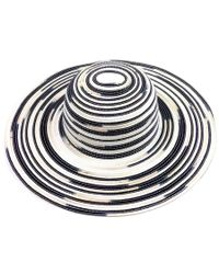 Michael Stars - Metallic Swirl Striped Floppy Hat - Lyst