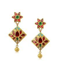 Amrapali - Metallic Intricated Design Earrings - Lyst