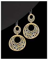Argento Vivo - Black 18k Over Silver & Silver Filigree Drop Earrings - Lyst
