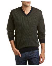 Raffi - Green Cashmere-blend V-neck Sweater for Men - Lyst
