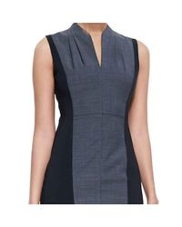 Elie Tahari - Blue Amabel Sleeveless Sheath Jersey Cocktail Day Dress - Lyst