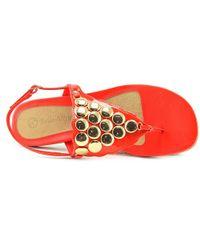 Bella Vita - Skylar Ii Women Open Toe Synthetic Red Thong Sandal - Lyst