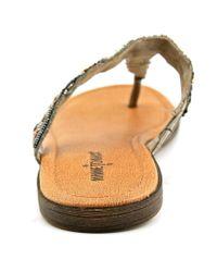 Minnetonka - Roatan Women Open Toe Synthetic Gray Sandals - Lyst