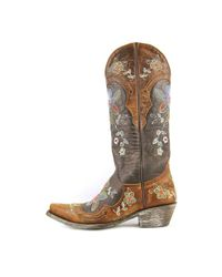 """Old Gringo - Brown Bonnie 13"""" Pointed Toe Leather Western Boot - Lyst"""