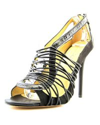 L.A.M.B.   Black Raivyn Open Toe Leather Sandals   Lyst