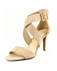 Jessica Simpson | Natural Liddy Women Open-toe Suede Nude Heels | Lyst