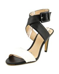 Vince Camuto   Black Casara Open Toe Leather Sandals   Lyst