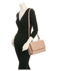 Ferragamo - Pink Seila Medium Double Gancio Leather Shoulder Bag - Lyst