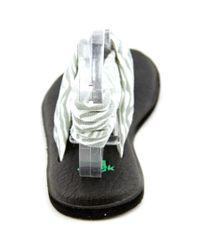 Sanuk - Gray Yoga Joy Open-toe Canvas Slingback Sandal - Lyst