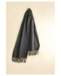 Hickey Freeman - Gray 100% Cashmere Windowpane Plaid Scarf for Men - Lyst