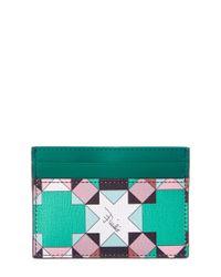 Emilio Pucci - Green Monreale Saffiano Leather Card Holder - Lyst