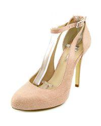 INC International Concepts | Pink Lucey Open Toe Leather Platform Heel | Lyst