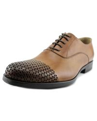 Kenneth Cole | Brown Plan Ahead Men Round Toe Leather Oxford for Men | Lyst