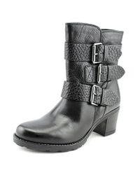 Clarks | Fernwood Lake Women Round Toe Leather Black Ankle Boot | Lyst
