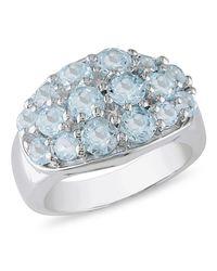 Catherine Malandrino | Metallic Blue Topaz Pave Bezel-set Ring | Lyst