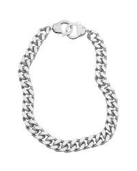 Eklexic - Metallic Handcuff Clasp Necklace - Lyst