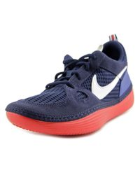 Nike | Solarsoft Run Men Round Toe Synthetic Blue Sneakers for Men | Lyst