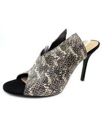 Trina Turk | Larkspur Women Open-toe Leather Black Heels | Lyst