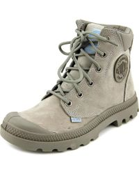 Palladium | Gray Pampa Cuff Wp Lux Women Round Toe Synthetic Boot | Lyst