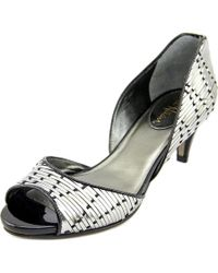 Cole Haan | Gray Tiana Air Pump Women Peep-toe Patent Leather Heels | Lyst