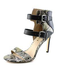 Via Spiga | Evangeline Women Open-toe Leather Black Heels | Lyst