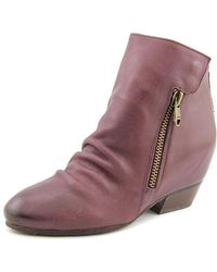 Naya   Fillie Women Round Toe Leather Purple Ankle Boot   Lyst