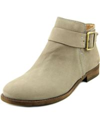 Franco Sarto | Holmes Women Round Toe Leather Gray Ankle Boot | Lyst