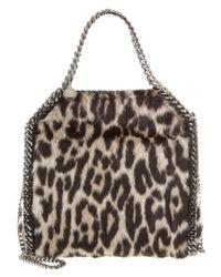 Stella McCartney | Natural Leopard Falabella Alter Fur Mini Tote | Lyst