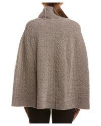 ESCADA - Brown Wool-blend Cape - Lyst