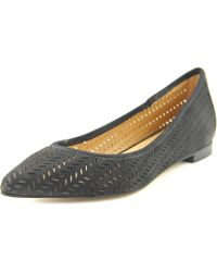 Corso Como   Black Greenwich Pointed Toe Leather Flats   Lyst