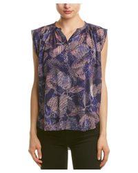 Rebecca Taylor - Purple Silk Garden Clip Top - Lyst