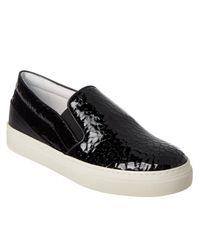 Tod's | Black Embossed Patent Slip On Sneaker | Lyst