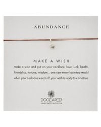 Dogeared | Metallic Silver Abundance Acorn Necklace | Lyst