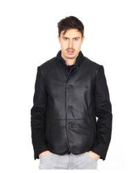 Giorgio Armani | Black Mens Leather Jacket for Men | Lyst