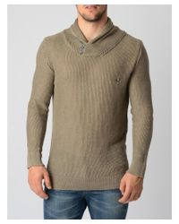 Fred Perry | Gray Mens Sweater for Men | Lyst