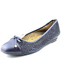 Söfft | Selima Ii Women Round Toe Leather Blue Flats | Lyst