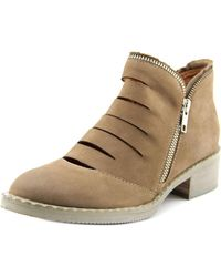 Gentle Souls | Brown Bailey Round Toe Leather Bootie | Lyst