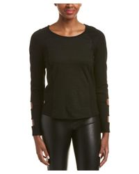 Chelsea and Walker - Black Arm Cutout Top - Lyst