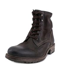 NDC - Brown Charles Round Toe Leather Boot for Men - Lyst