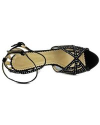 Charlotte Olympia - Black Octavia 100 Peep-toe Suede Heels - Lyst