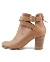 Cole Haan - Nilla Bootie.ii Women Round Toe Leather Brown Bootie - Lyst