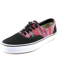 Vans | Era Women Round Toe Canvas Black Sneakers | Lyst