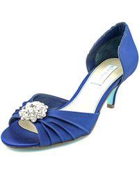 Betsey Johnson | Stun Women Open Toe Canvas Blue Sandals | Lyst
