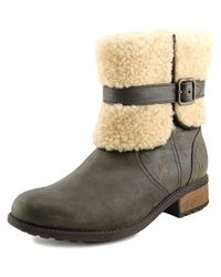 Ugg | Brown Blayre Ii Round Toe Leather Winter Boot | Lyst