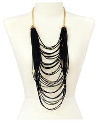 Sparkling Sage - Black 14k Plated Suede Necklace - Lyst