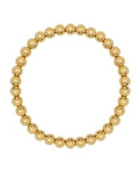 Eklexic - Metallic Small Gold Ball Stretch Bracelet - Lyst