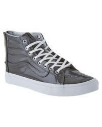 Vans | Gray Unisex Sk8-high Patent Sneaker | Lyst
